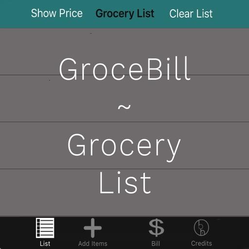 GroceBill - Grocery List App