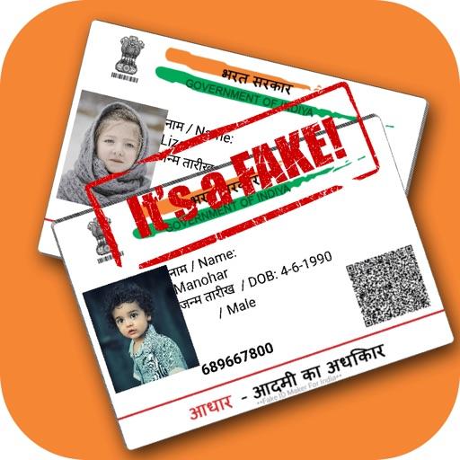 Fake Aadhar Card Maker by JAYADIP SENJALIYA