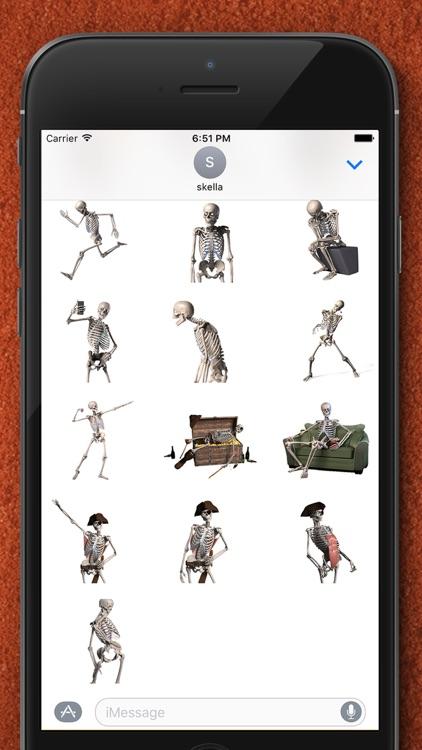 Skelly Stickers: Skulls and Skeletons screenshot-3
