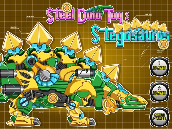 Steel Dino Toy: Mechanic Stegosaurus-2 player game на iPad