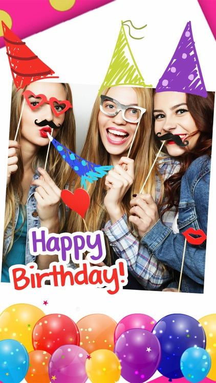 Happy Birthday Cards & Frames –  photo editor screenshot-0