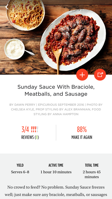 Screenshot 1 for Epicurious's iPhone app'