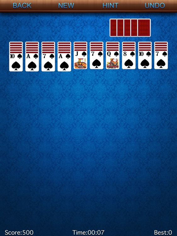 Spider-Solitaire HD screenshot-1