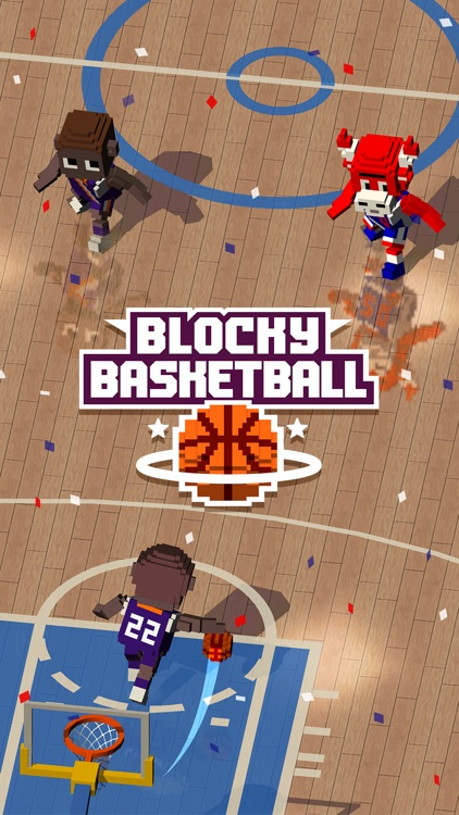 Blocky Basketball - Endless Arcade Dunker screenshot-0