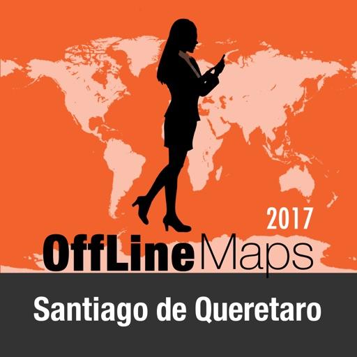 Santiago de Queretaro mapa offline y guía de