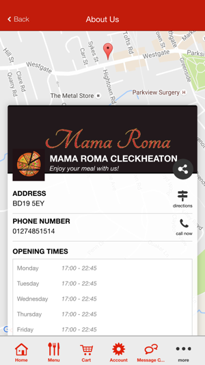 Mama Roma Pizza Cleckheaton On The App Store