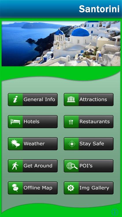 Santorini Offline Map Travel Guide