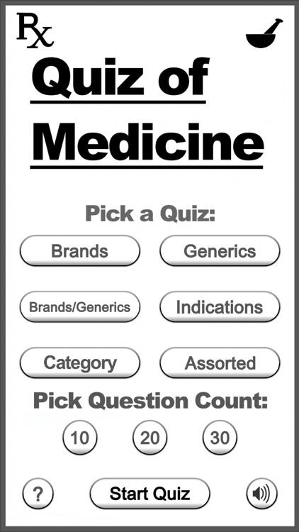 Quiz of Medicine (Drugs Quiz)