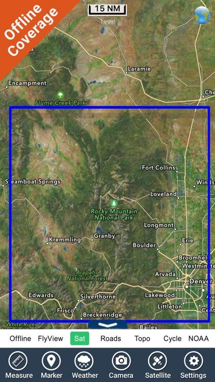 Rocky Mountain National Park - GPS Map Navigator screenshot-4