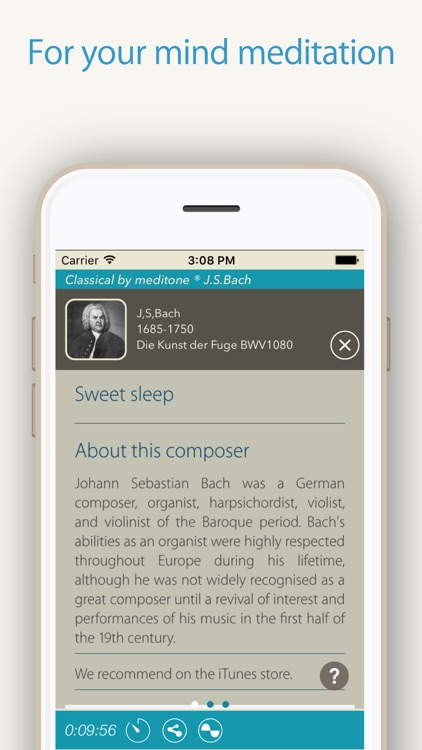 "Relax Classic ""J.S.Bach"" by meditone® screenshot-2"