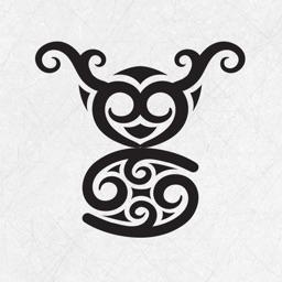 Maori Tattoo Stickers - Tribe Maui symbols to rock