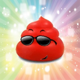 Cool red poop animated - Fx Sticker
