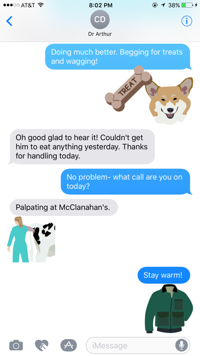 Vetmoji Sticker Pack screenshot one