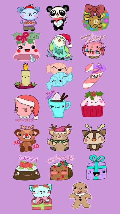 Cute Christmas Holiday Stickers