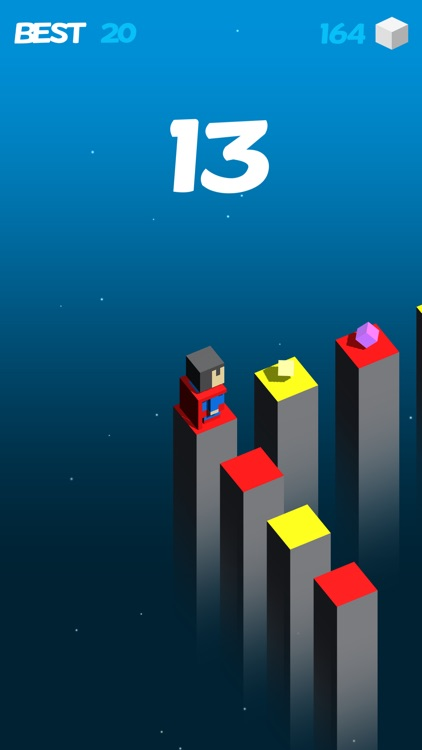 Color Cube Jump Fall Down Games
