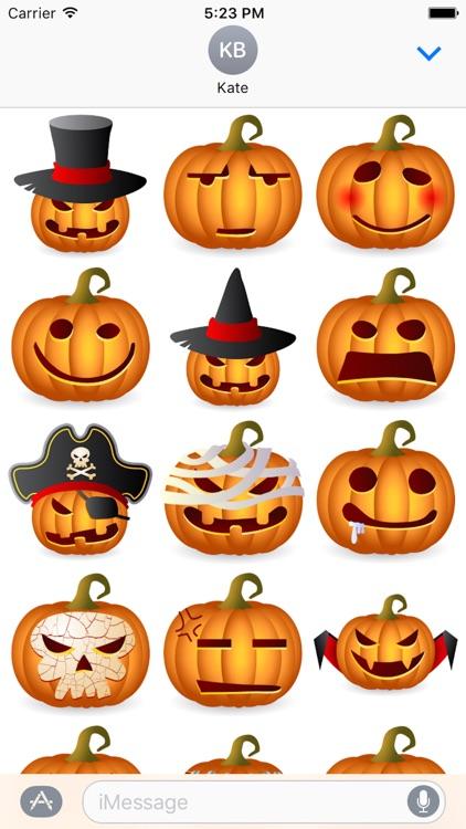 Pumpkin Halloween Sticker - Emoji