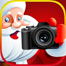 Christmas Photo Booth With Cute Camera Stickers
