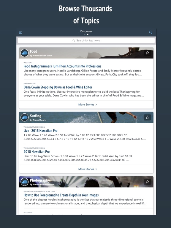 Nuzzel: News & Newsletters for Busy Professionals Screenshot