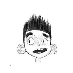 Spiky Hair Boy emoticons - Facial Expression