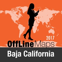 Baja California Offline Map and Travel Trip Guide