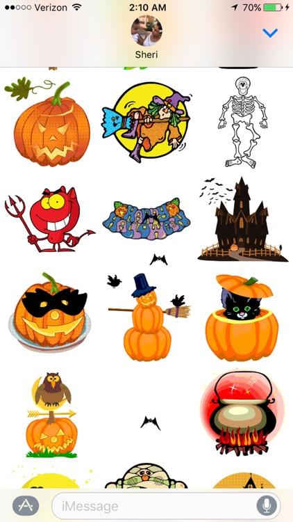 Animated Halloween Sticker Pack