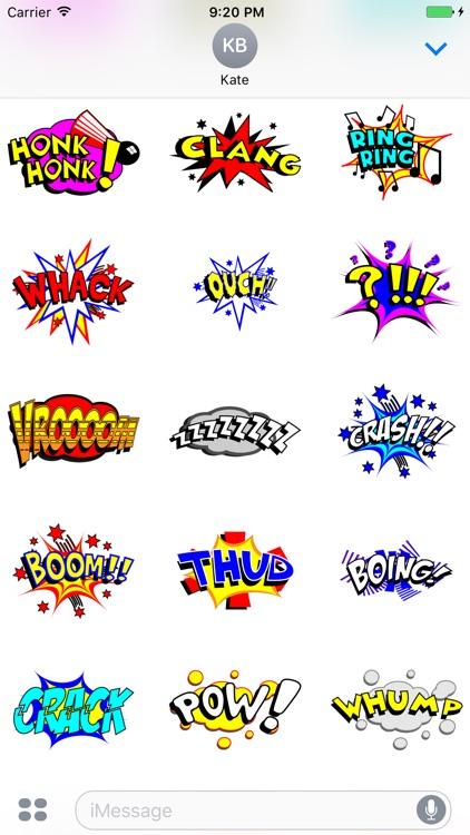 Comic Speech Bubble Stickers Vol 01 by Tuan Tran Anh