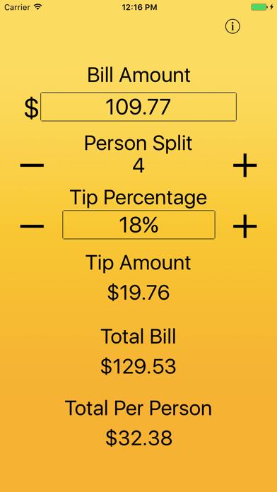 Just The Tip - Tip Calculator screenshot four