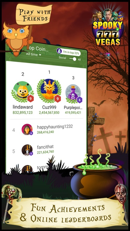 Spooky Vegas Slot Machines - Free Casino screenshot-4