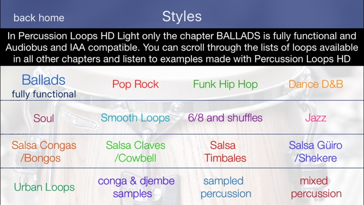 Percussion Loops HD Light screenshot-0