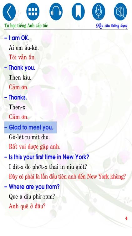Tự học Tiếng Anh cấp tốc - Common Sentences screenshot-3