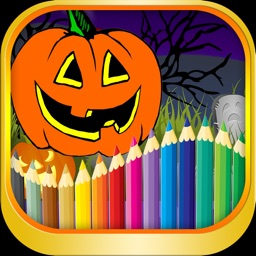 Preschool Halloween Coloring page
