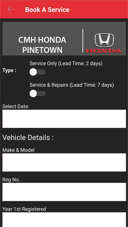 CMH Honda Pinetown screenshot-3
