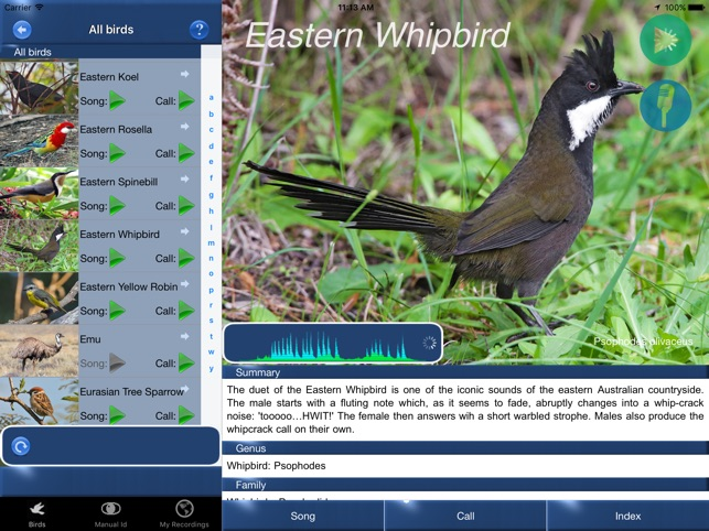 ‎Bird Song Id Australia - Automatic Recognition