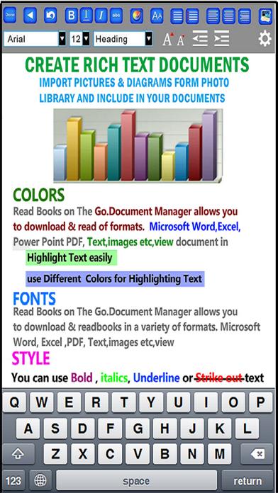 Document Writer for Microsoft Office - Word & PDF Screenshot on iOS