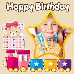 Happy Birthday Photo Frames + Stickers