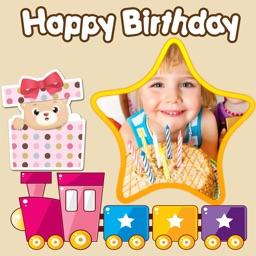 Happy Birthday Photo Frames + Stickers