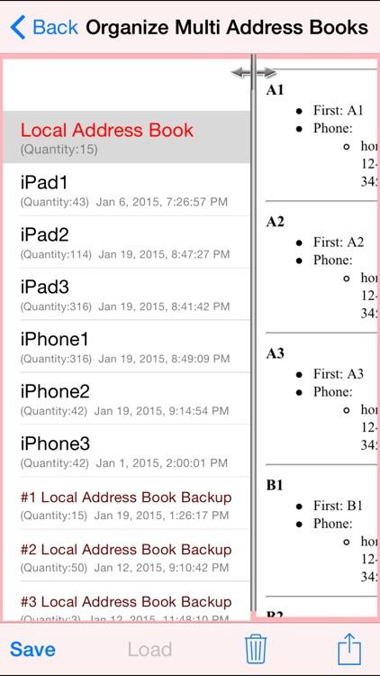 Free Multi Address Book Organizer screenshot-3