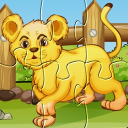 Wild Animals Puzzle: Preschool Kids Learning Games