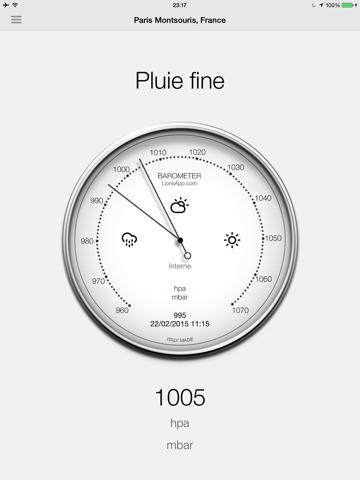 Screenshot #4 pour Baromètre - Pression atmosphérique