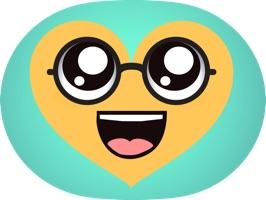 Kawaii Hearts Emoji - Sticker Set for iMessage