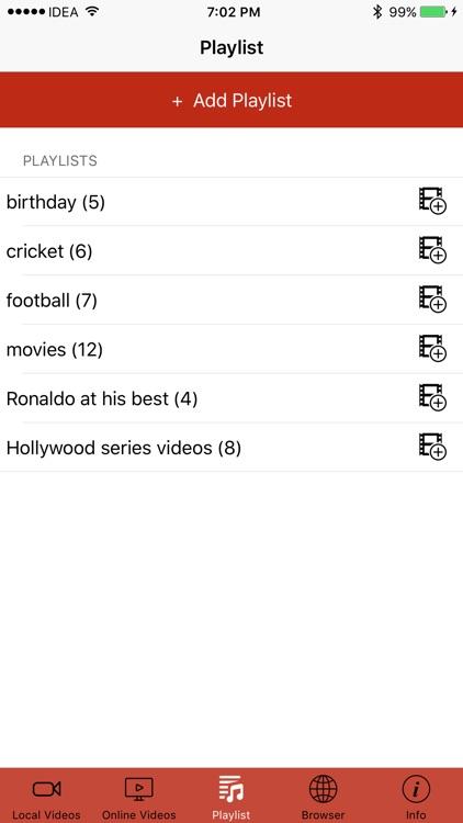 iVideo Player - Online Player & Video Playlist PRO screenshot-4
