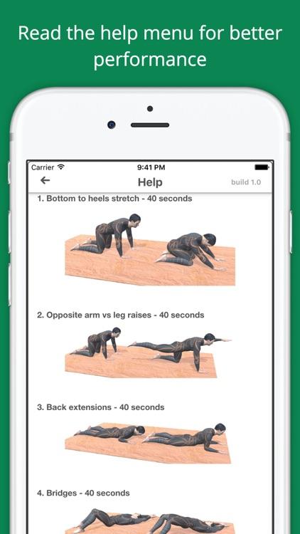 Lower Back Challenge Workout screenshot-4