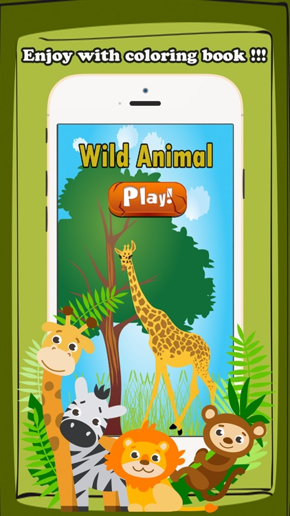 Wild Animals Coloring Book Kids Educational Games