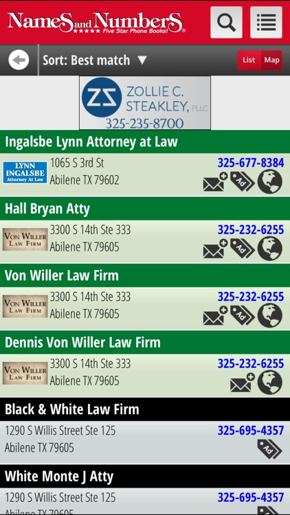 Names and Numbers Yellow Pages screenshot-3