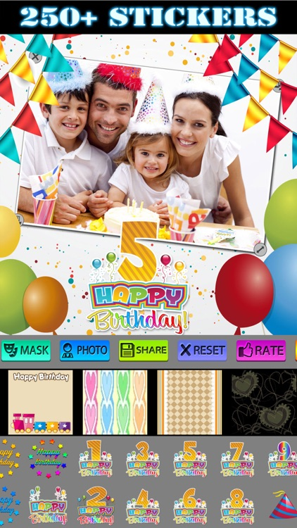 Happy Birthday Photo Frames + Stickers screenshot-3