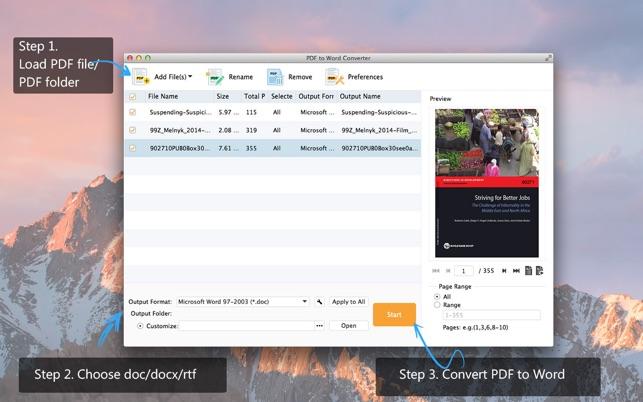 Aiseesoft PDF to Word Converter Screenshot