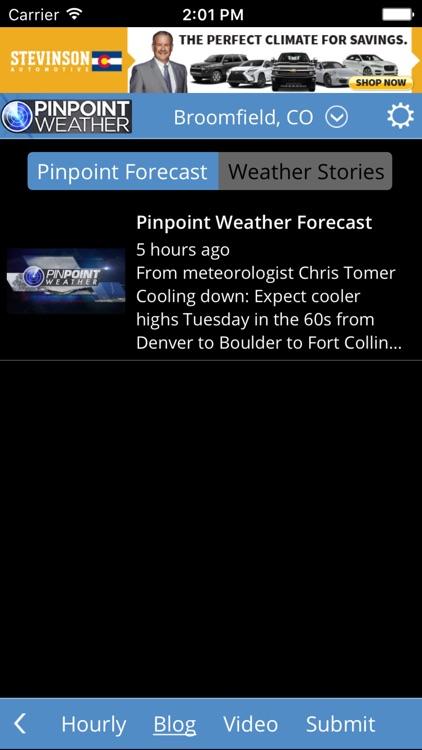 Fox31 - CW2 Denver Pinpoint Weather screenshot-3