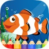 Ocean Animals Coloring Book Game