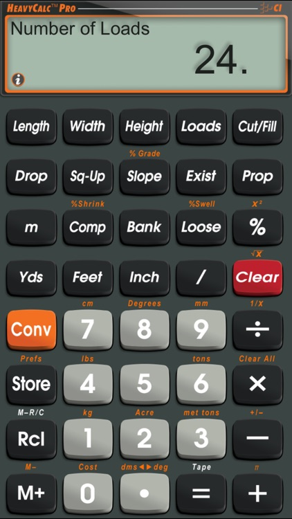 HeavyCalc Pro Feet Inch Cubic Yard Calculator screenshot-0