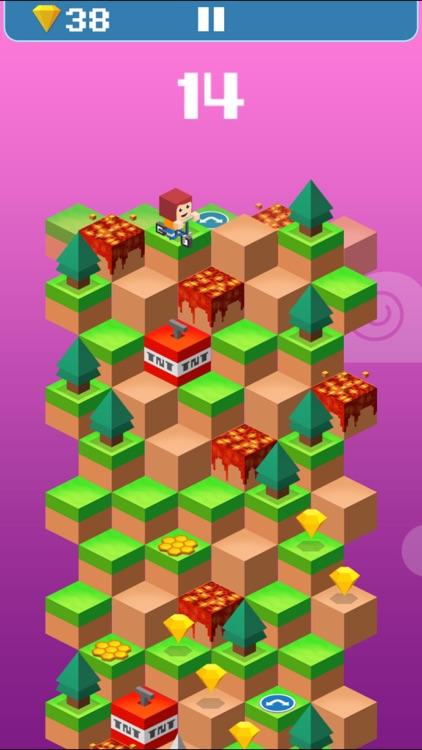 Down the Valley: warrior jump down game! screenshot-4